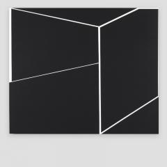 BIG WHITE CUBE NEXT TO A BLACK WALL   /  2017 - 70x80x4cm - acrylic, canvas, wood
