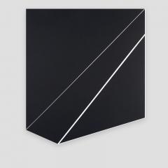 folded rectangle  /  2018 - 57x65x2cm - acrylic, canvas, wood