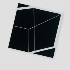 WHITE CUBE 1  /  2018 - 45x45x4,5cm - acrylic, canvas, wood