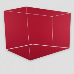 white cube on a red wall  /  2018 - acrylic, canvas, wood